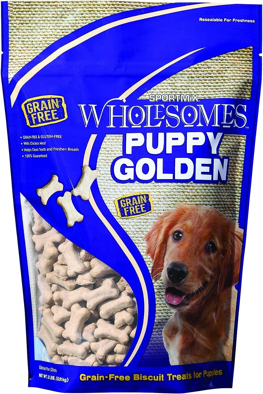 Sportmix Wholesomes Puppy Golden Grain Free Dog Treats, 2 Lb.