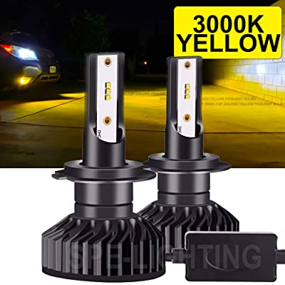 Extremely Bright 3000K Golden Yellow, 9005 (HB3) 9145 9140 CSP-LED Foglight Bulbs All-in-One Conversion Kit - 9,200Lm: Automotive
