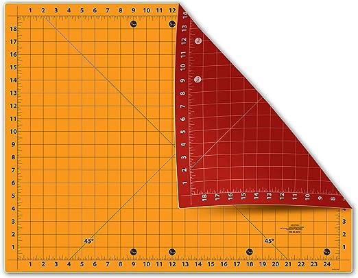Amazon Com Sullivans The Cutting Edge 18 X 24 Cutting Mat Red Gold