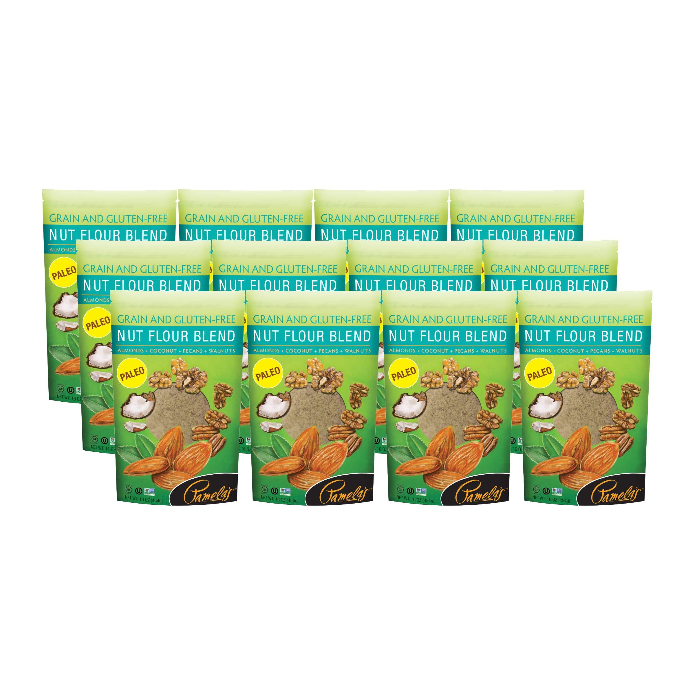 Pamela's Organic Grain-Free Gluten Free Paleo Flour (Nut Blend Flour, Pack - 12)