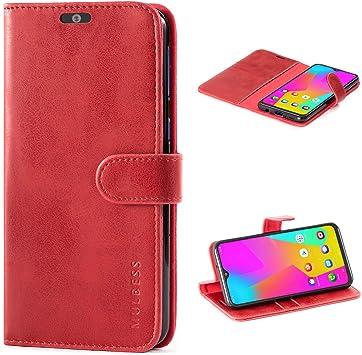 Mulbess Funda para Samsung Galaxy M20, Funda Cartera Samsung Galaxy M20, Funda Cuero con Tapa, Funda Libro para Samsung Galaxy M20 Case, Vino Rojo: Amazon.es: Electrónica