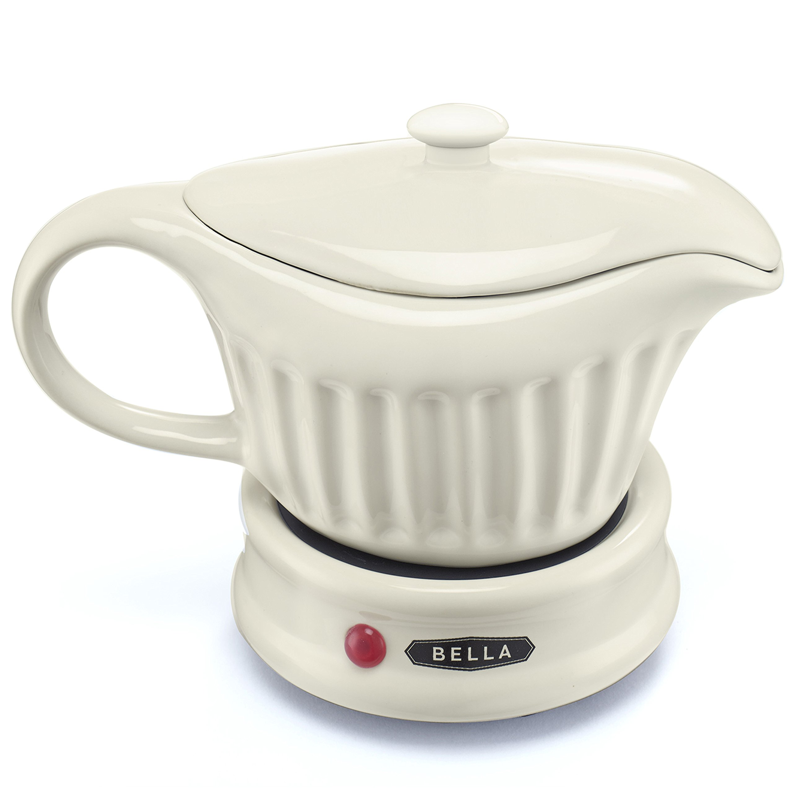 Bella Electric Gravy Boat Warmer Ceramic with Lid Detachable Power Cord 18 Oz