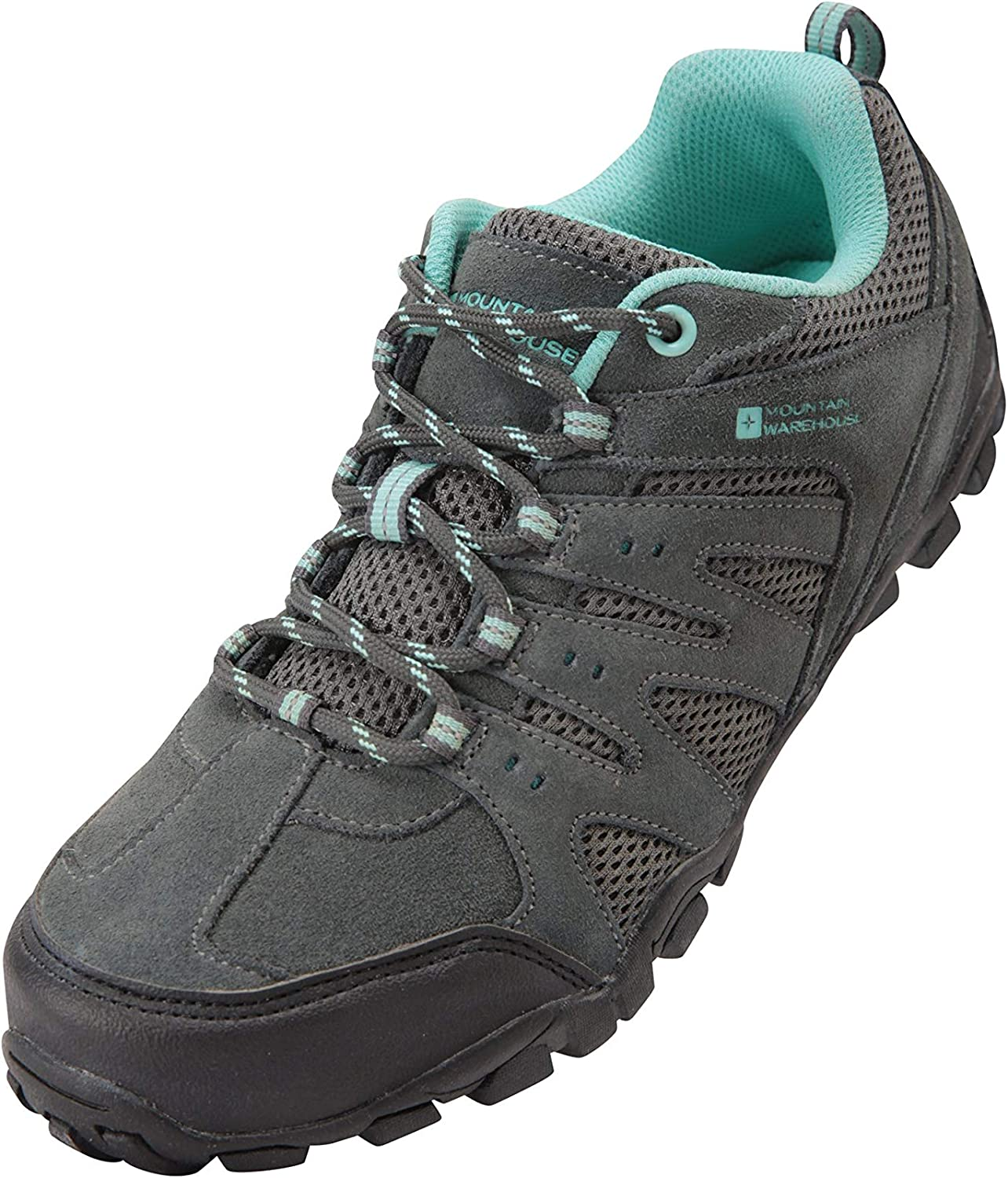 Suede /& Mesh Upper Mountain Warehouse Sherwood Womens Hiking Shoes for Walking Mesh Lined Trainers