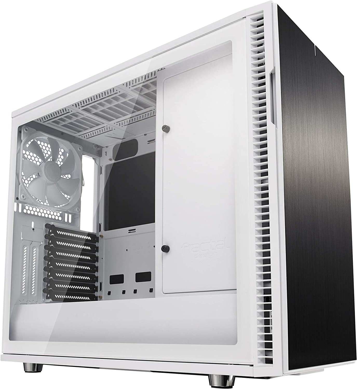 Fractal Design Define R6 USB-C - Mid Tower Computer Case - ATX - Optimized for High Airflow and Silent Computing with Moduvent Technology - Modular Interior - Water-Cooling Ready - White Tg