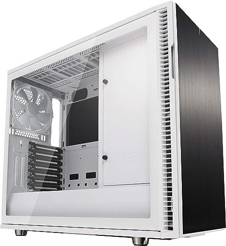 Fractal Design Define R6 USB-C–TG Escritorio Blanco - Caja de ordenador (Escritorio, PC, Aluminio, Acero, Vidrio templado, Blanco, ATX,EATX,ITX,Micro ATX, Juego): Amazon.es: Informática