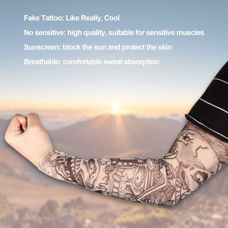 8 PCS Mangas Tatuajes Falsos, Rymall Tatuajes Temporales Brazo ...