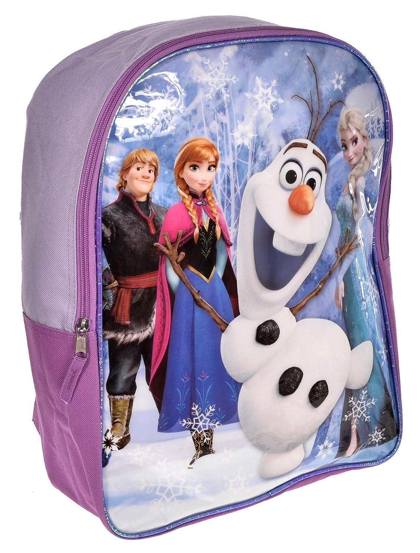 Disney Girls' Frozen Backpack Elsa Blue and Purple Fast Forward
