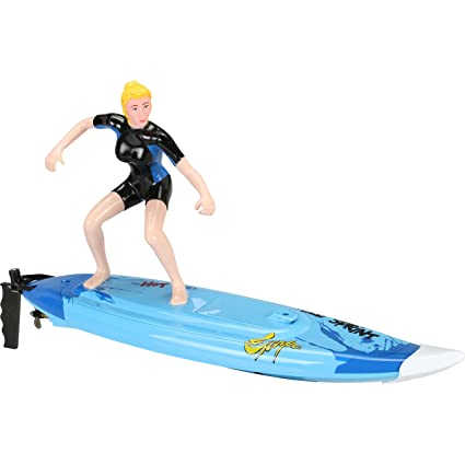 amazon com riviera rc wave rider surf board blue sports outdoors