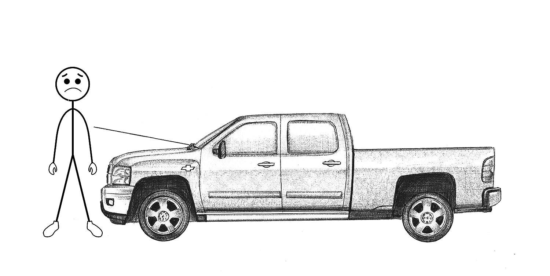 OEM Radio Antenna Mast Fixed for Chevy GMC Pickup SUV NEW