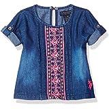 U.S. Polo Assn. Baby Girl's Fashion Top and Short Set Shorts