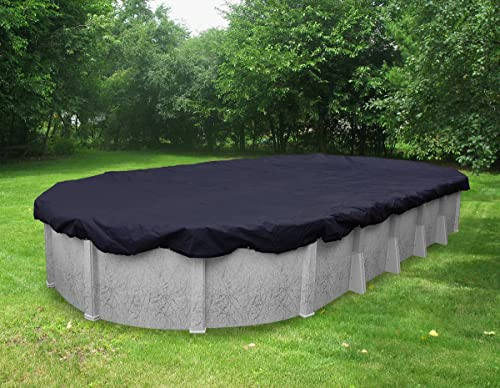 Pool Mate 351833-4PM Heavy-Duty Winter Cover for Oval Above Ground Swimming Pool, 18 x 33'