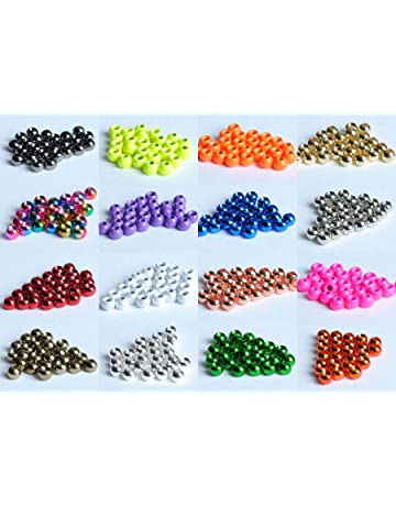 Angelsport-Artikel 1000 Rainbow Color Tungsten Fly Tying Beads Assorted Sizes B