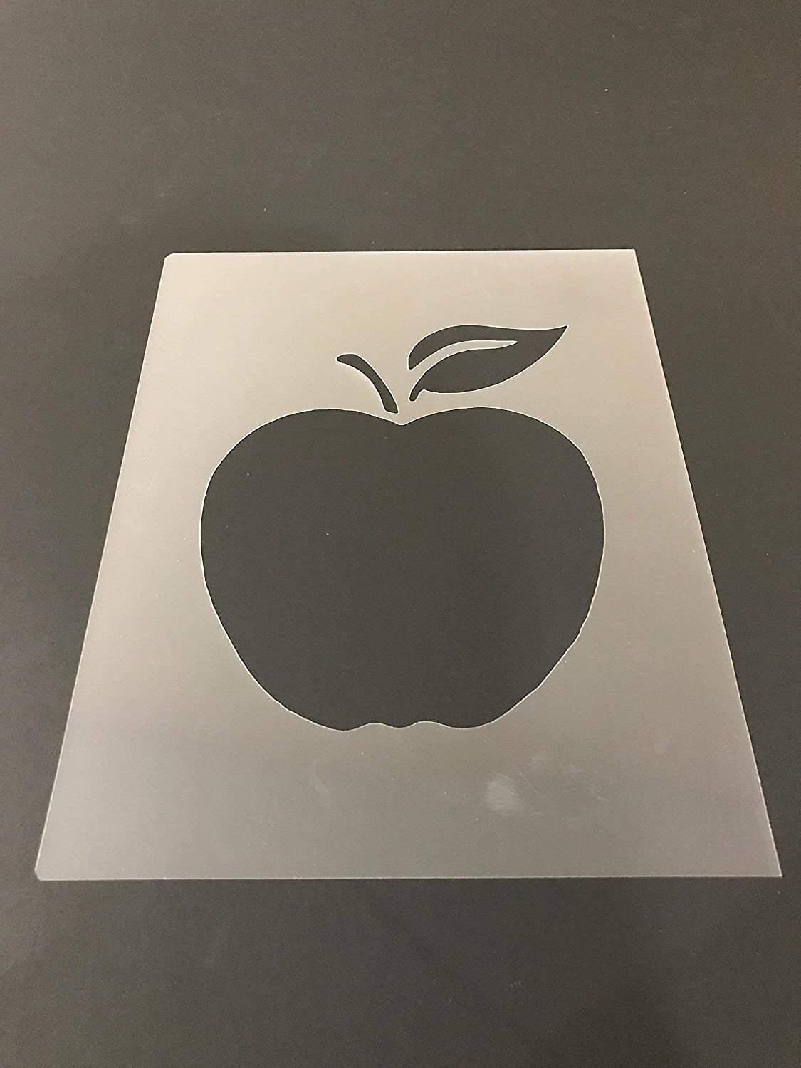 Apple Stencil #1 Reusable 10 mil Thick 8in x 10.5in sheet