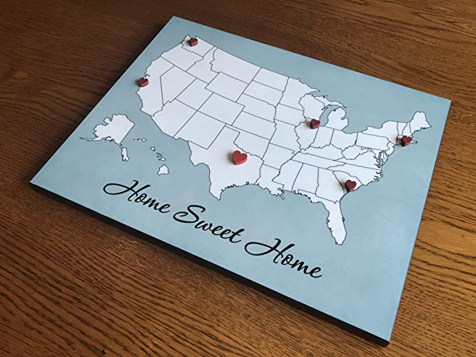 Customize Us Map.Amazon Com Customize Your Own Map You Arrange Hearts