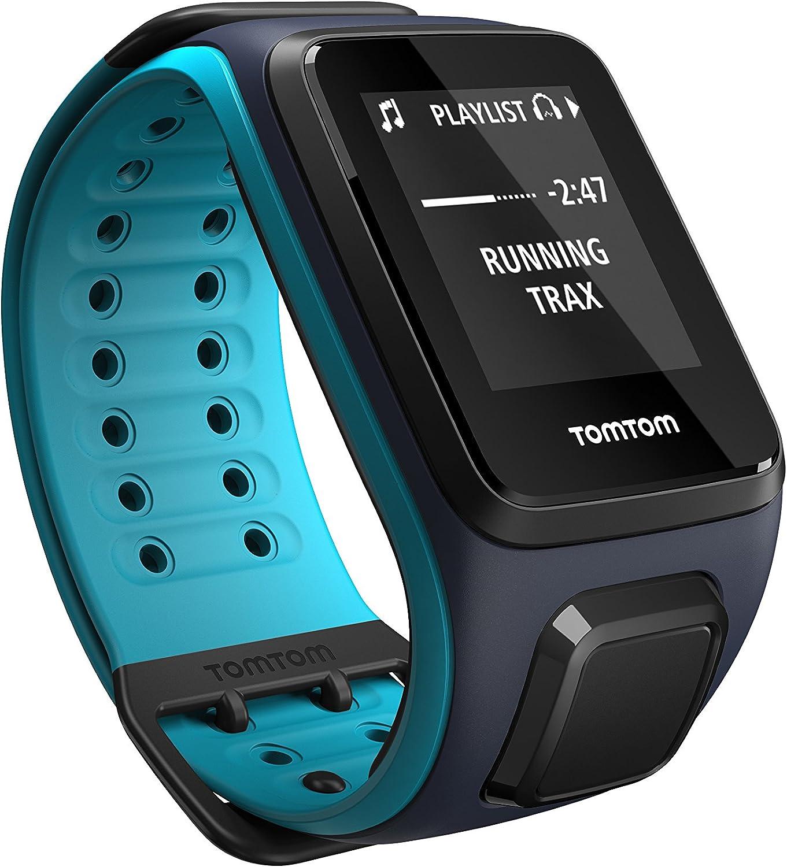 TomTom Runner2 Music- Reloj deportivo con música, color turquesa / azul, talla grande