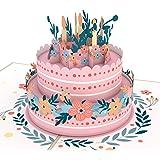 Lovepop Floral Birthday Cake Pop Up Card, 3D Cards, Birthday Card, Birthday Pop Up Card, Greeting Card, Birthday Greeting Card