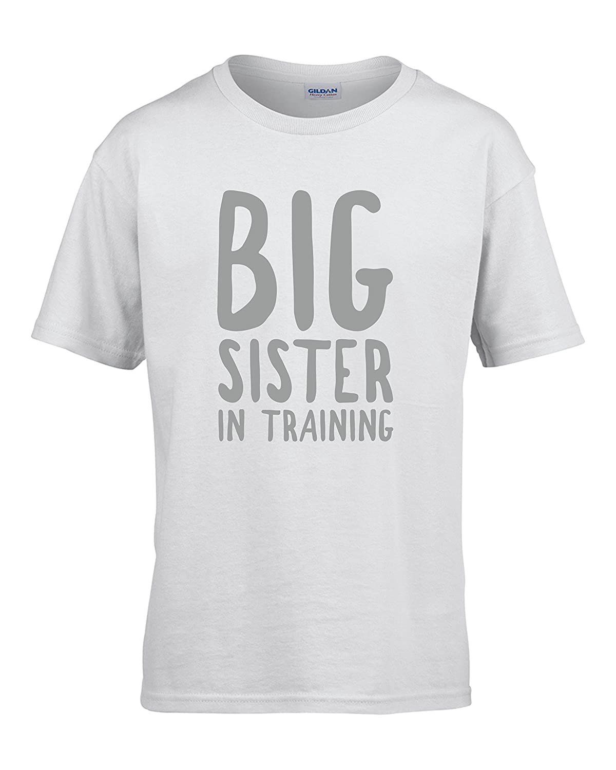 Big Sister In Training Girls T-Shirt Pregnancy Announcement Sister T-Shirt