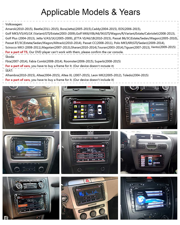 Yingly 8 Pulgadas 2 DIN Estéreo de Coche para VW Golf Asiento Skoda con Sistema de WinCE Reproductor de DVD GPS de Navegación Radio Apoyo Parking Cámara ...