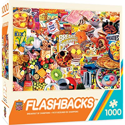 MasterPieces Flashbacks Jigsaw Puzzle, Breakfast of Champions, 1000 Pieces, Assorted: Toys & Games