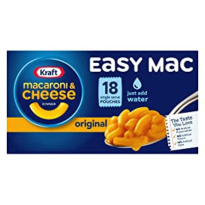 Kraft Easy Mac Original Flavor Macaroni and Cheese Meal (18 Pouches)