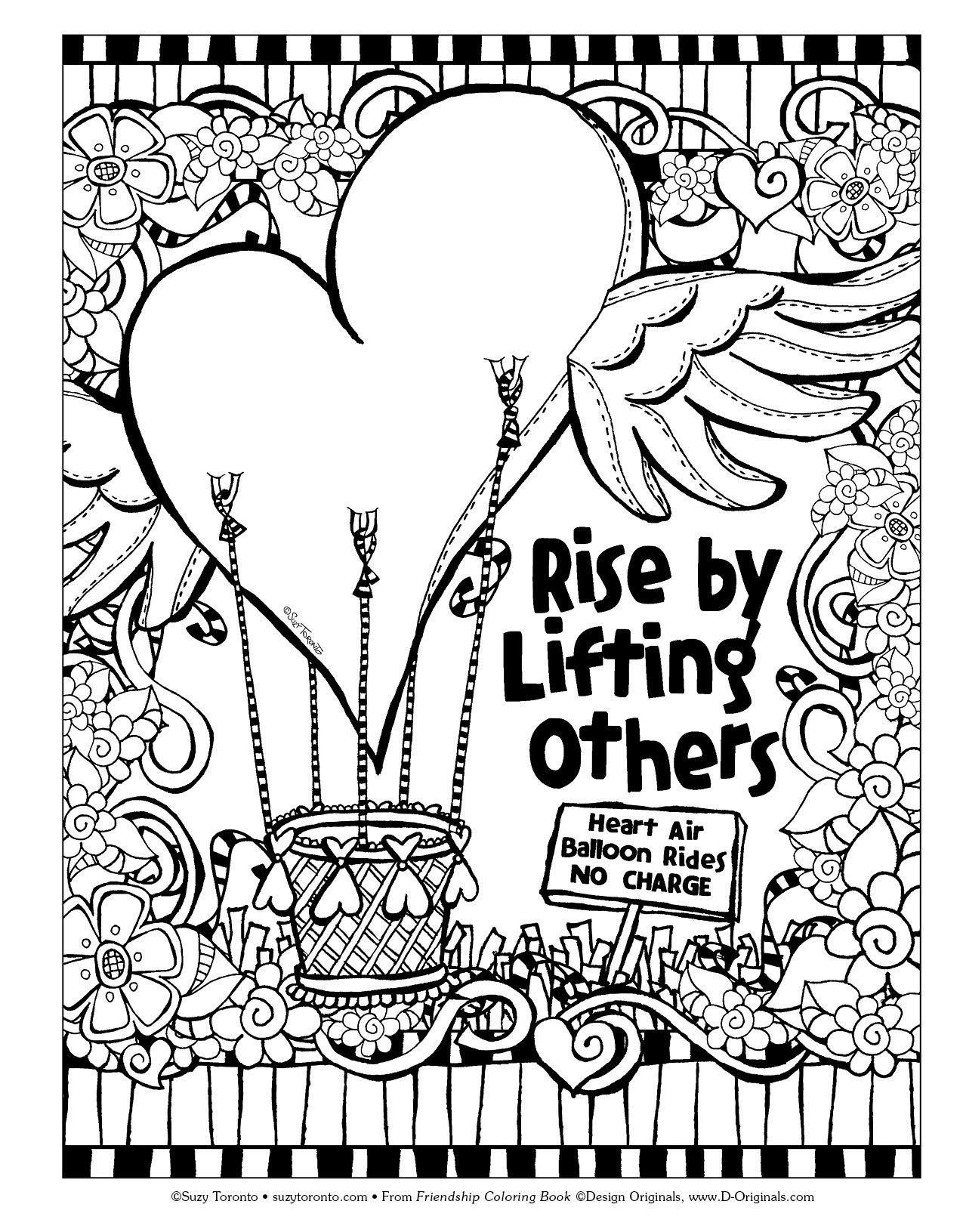 Friendship Coloring Book Suzy Toronto 9781497201552 Amazon Books