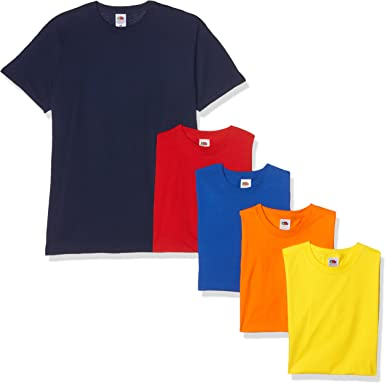 Fruit of the Loom Valueweight Short Sleeve Camiseta (Pack de 5 ...