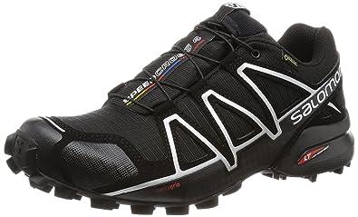 Salomon Men's Speedcross 4 GTX Trail Running Shoes, Black, ...