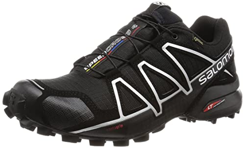 Salomon Men's Speedcross 4 GTX Trail Running Shoe, Synthetic/Textile, Black  (Black