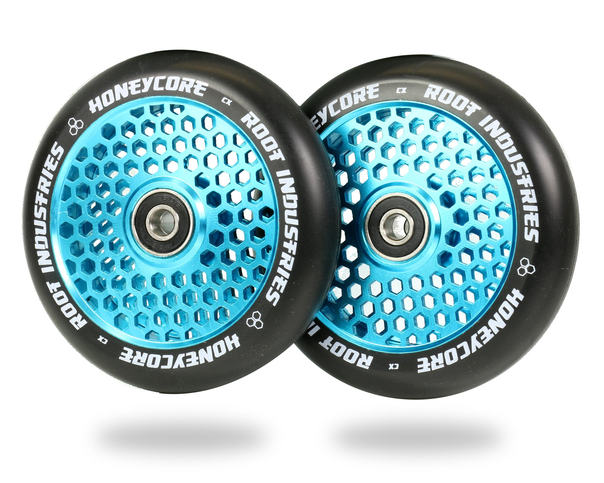 Root Industries 110mm Honeycore Wheels - Black Urethane (Pair) (Black/Blue)