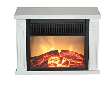 Comfort Glow EMF162 1200 Watt Hearth Portable Electric Fireplace Classic,  Mini, White