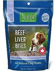 VitaLife Freeze Dried Dog Treats - All Natural, Freeze Dried Beef Liver Bites, 172 g