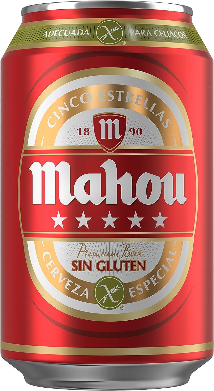 Mahou 5 Estrellas Sin Gluten Lata Cerveza - 330 ml: Amazon.es: Alimentación y bebidas