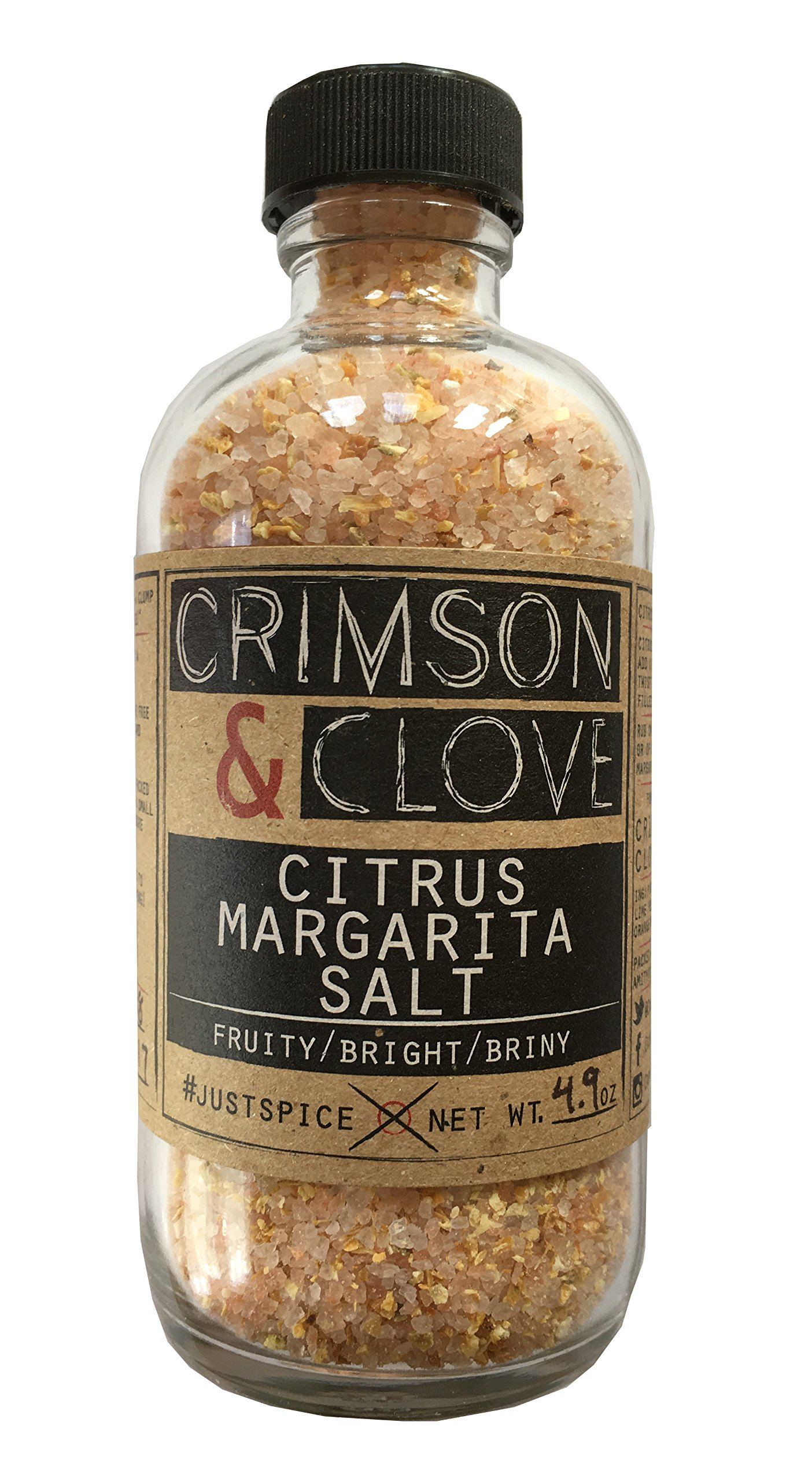 Citrus Margarita Cocktail Rimming Salt by Crimson and Clove (4.9 oz.)