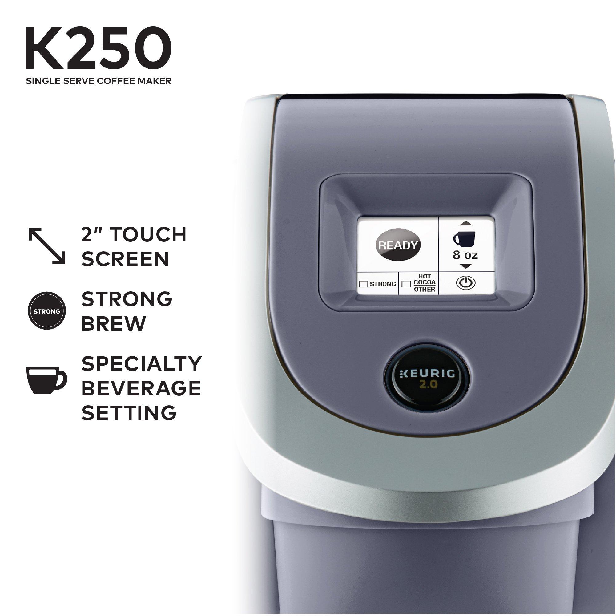 Keurig K250 Single Serve K-Cup Pod Coffee Maker with Strength Control Plum Grey Plum Grey by Keurig (Image #6)