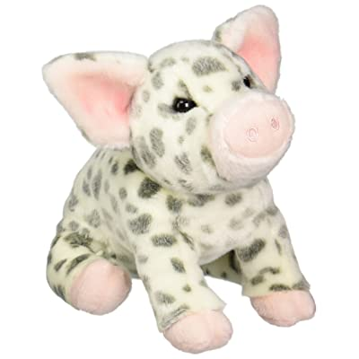 "Douglas Cuddle Toys Pauline Spotted Pig Plush Toy 10"" H: Toys & Games"