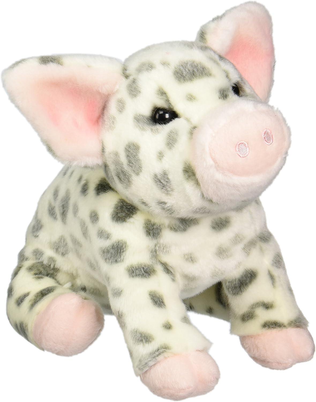 "PAULINE 9/"" long SPOTTED PIG stuffed plush animal pink Douglas"
