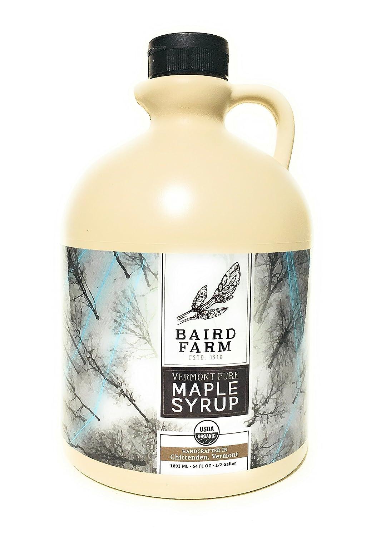 da9314c9188 Amazon.com   Baird Farm Organic Vermont Pure Maple Syrup Half Gallon (64oz)  Grade A Medium - Amber Color Rich Taste   Grocery   Gourmet Food