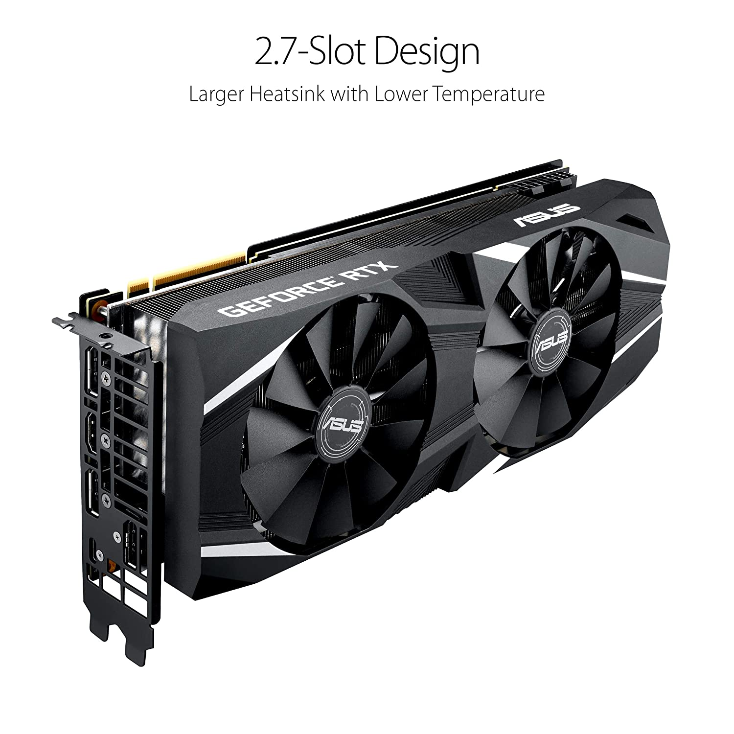 ASUS GeForce RTX 2080 8G GDDR6 Dual-Fan Edition VR Ready HDMI DP USB Type-C  Graphics Card (DUAL-RTX-2080-8G)