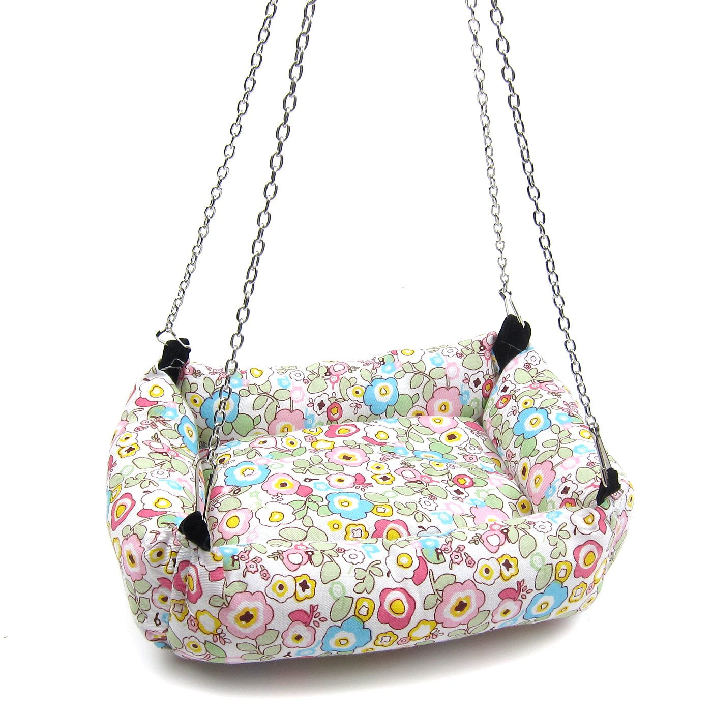 Alfie Pet by Petoga Couture - Ariel Hanging Bed for Small Animals like Dwarf Hamster and Mouse - Design: Flower, Size: Large by Alfie (Image #1)