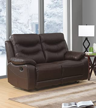 Sc Furniture Ltd Brown High Grade Genuine Leather Manual Reclining 2