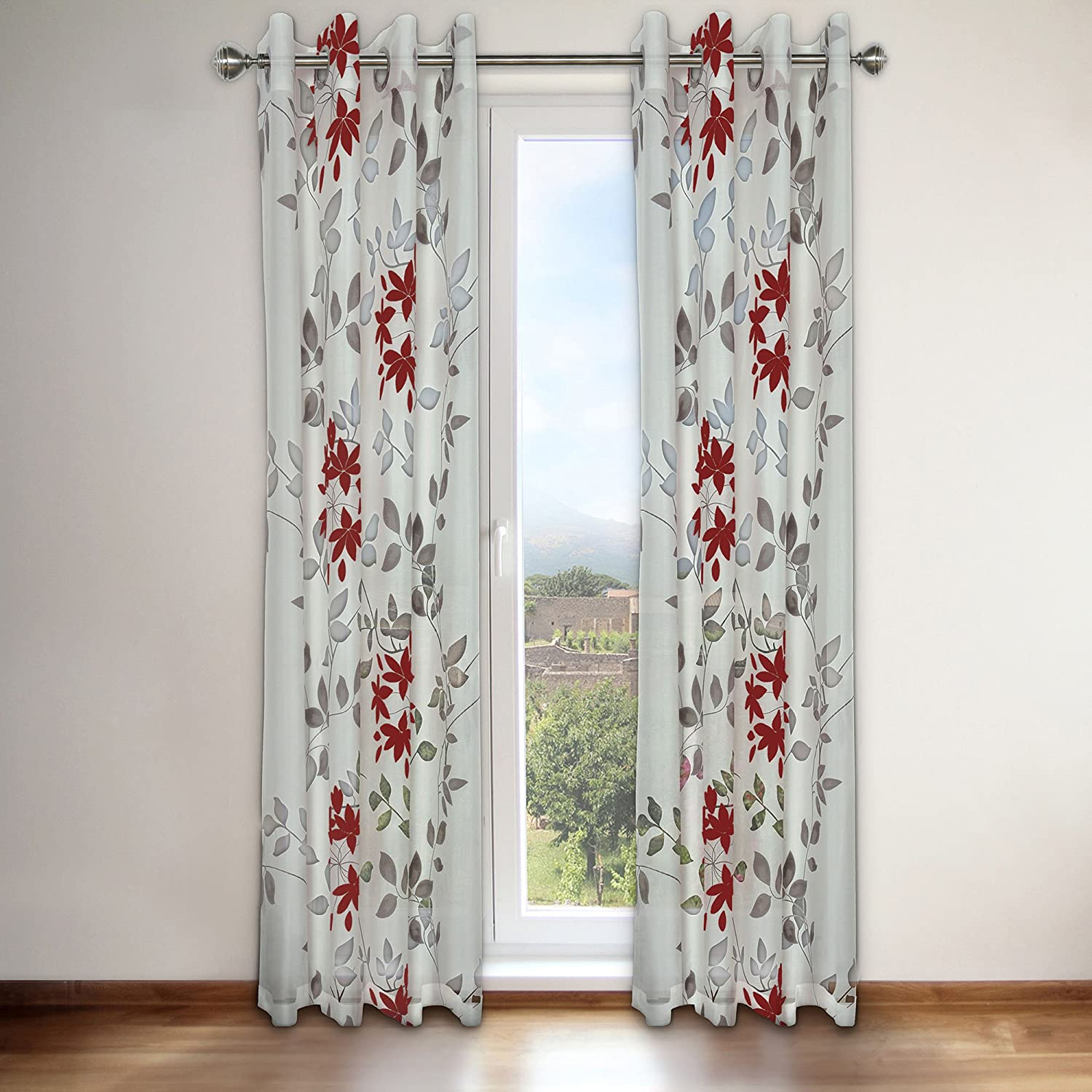 Famous Home Fashions Famous Home Reni Red Window Curtain Panel, 54' x 95' 54 x 95 920226