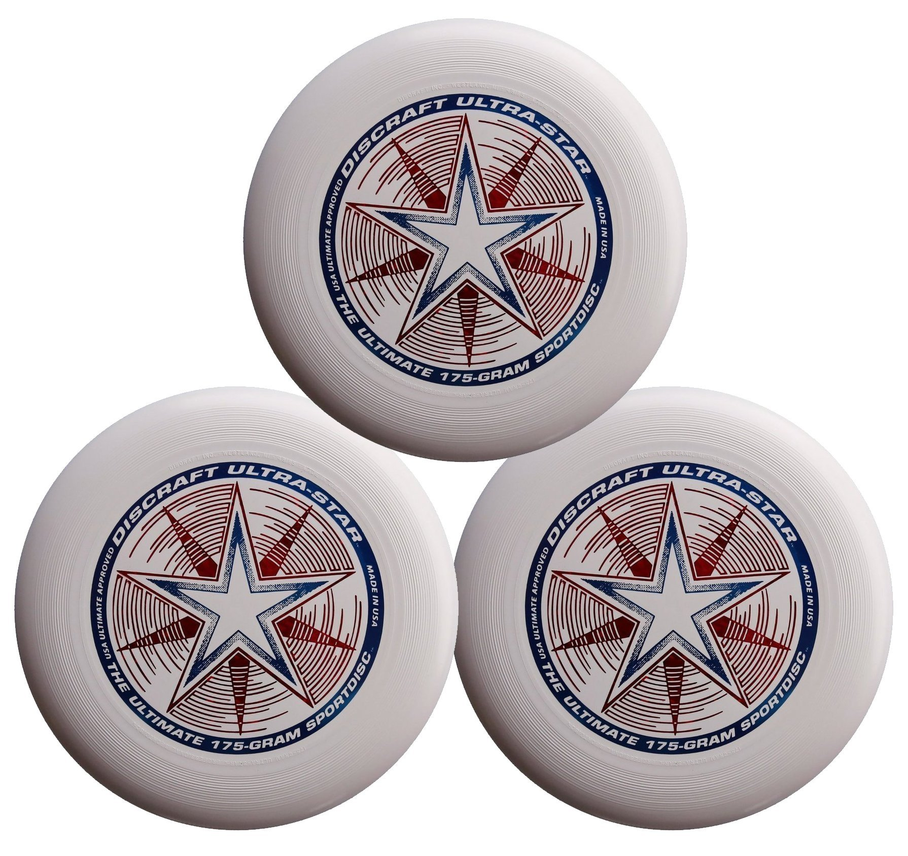 Discraft 175g Ultimate Disc Bundle (3 Discs) White, White & White by Discraft