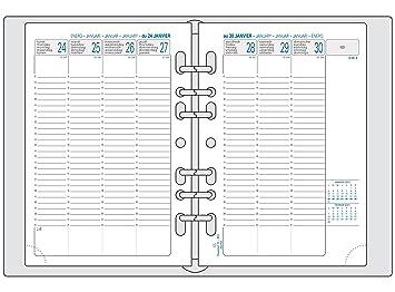Exacompta recarga agenda semanal Exatime 21 (vertical septiembre 2016 A septiembre 2017 142 x 210 mm