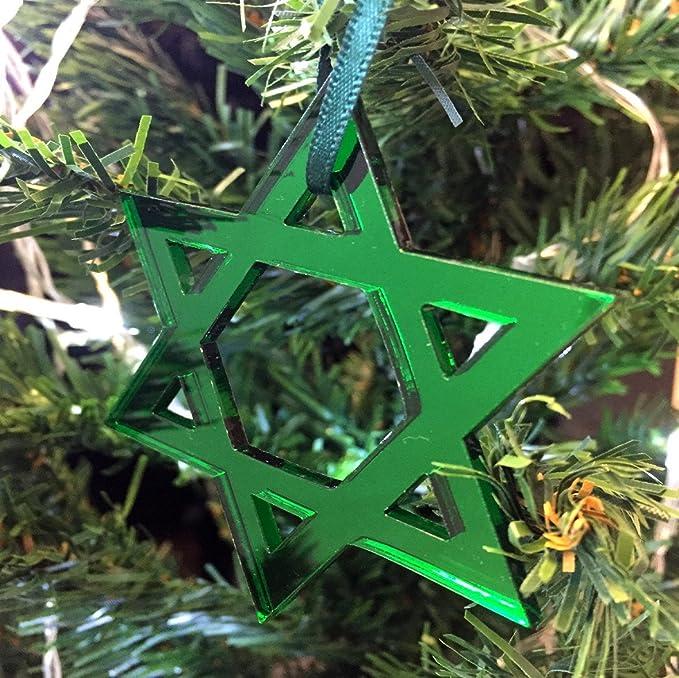 estrella de David Adornos Para Árbol De Navidad - Pack de 10 ...