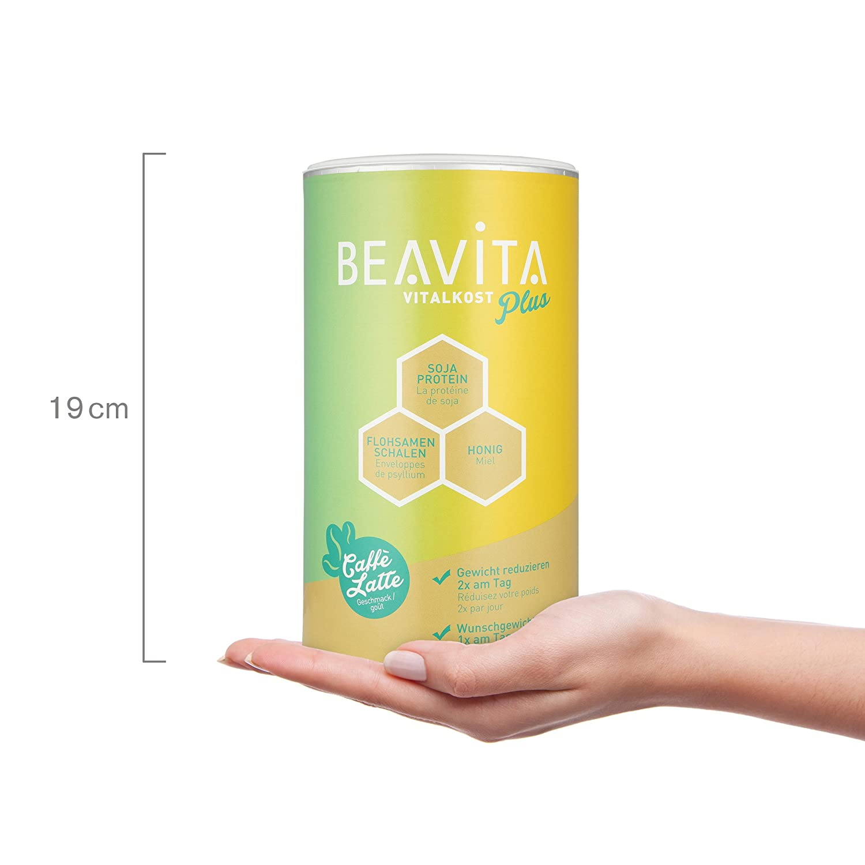 BEAVITA Vital Plus Sabor Café con Leche | 572g en polvo | Delicioso batido para perdida de peso | Rinde 10 porciones | Mezcla de café | Producto vegetariano ...