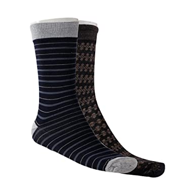 b030d95759 Amour-propre Men's Combo (Pack of 2) Assorted colors Crew Length Cotton  Socks: Amazon.in: Clothing & Accessories