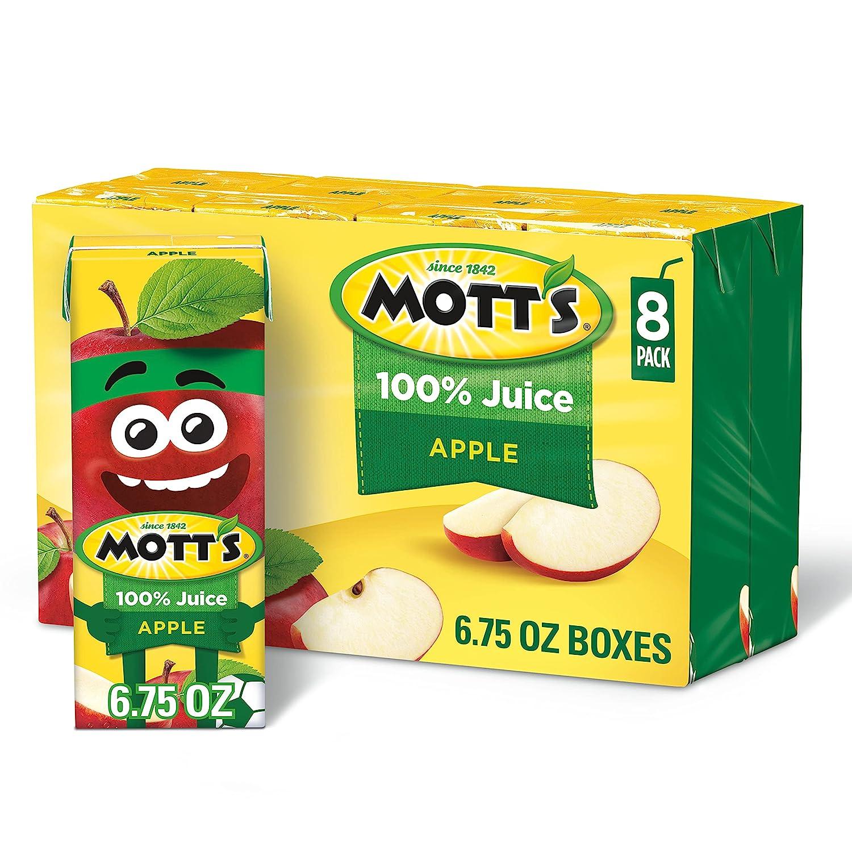 Mott's Original Apple 100% Juice, 6.75 Fluid Ounce Juice Box, 8 Count