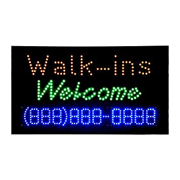 LED Walk ins Welcome Open Light Sign Pizarra de publicidad ...