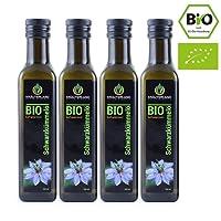 BIO Schwarzkümmelöl BIO 4x 250 ml gefiltert kaltgepresst ägyptisch 100% naturrein Frischegarantie: täglich mühlenfrisch direkt vom Hersteller Kräuterland Natur-Ölmühle