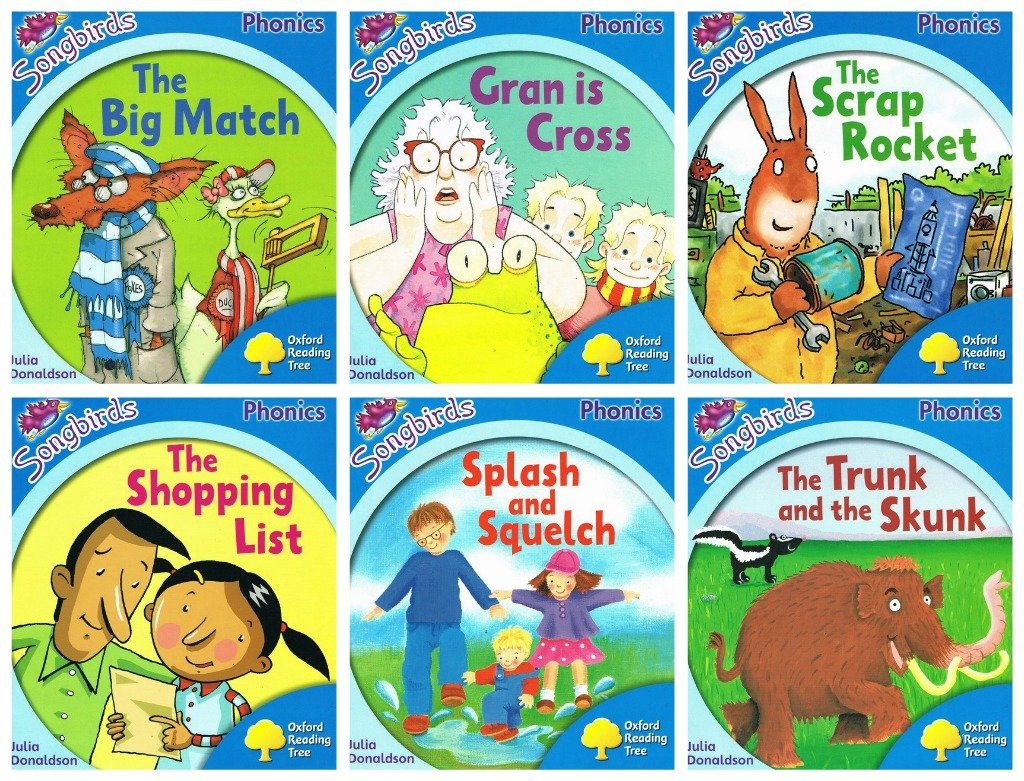 Songbird Phonics Stage 3 - 6 book pack The Big Match / Splash and ...